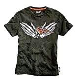 GHOST RIDER - FLAMING - MARVEL COMIC EXTREME - OFFICIAL MENS T SHIRT - Vert, Small