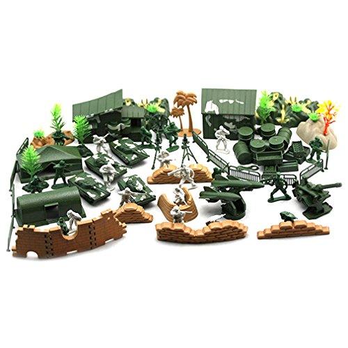 gugutogo 90 STÜCKE Kunststoff Modell Spielset Spielzeug Soldaten Action-Figuren Armee Männer Zubehör (Farbe: Armee-Grün) (Spielset Action-figuren)