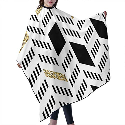 Haarschnitt-Schutzblech-Haar-Hausmantel-Umhang, Professional Barber Supplies Chevron_Blocks_Detail Cape Cover Cloak Hair Dyed Hair Anti-Static Hairdressing - Chevron Block