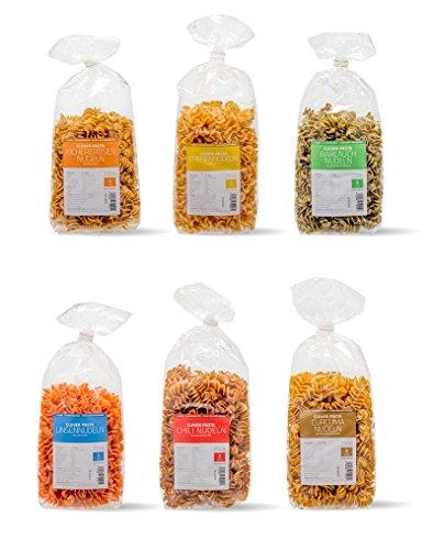 Clever Pasta 6-er Pack Startpaket (6 x 250 g) (Protein Pasta)