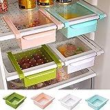 Ducomi Kühlschrank, platzsparend, aus PVC, zum Befestigen an Regalböden des Kühlschranks und Freezer – Schiebeschale für Lebensmittel, Uova, Verdura und Obst