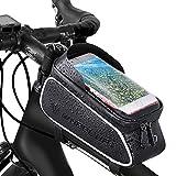 XPhonew, Borsa per Il Telaio della Bicicletta, Porta Telefono per Bicicletta, Impermeabile, per Il Telaio del Manubrio, per iPhone XS, X, 8, 7, 6, 6S Plus, Samsung, LG, Smartphone sotto i 15,2 cm