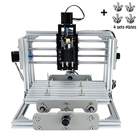 Beautystar CNC DIY Router Engraving Machine, Working Area 240*170*65mm, PCB Milling Machine CNC Wood Metal Carving Mini Engraving Router PVC