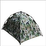 TY&WJ Campingzelt,Kuppelzelte Camouflage zelt Wandern Outdoor-aktivitäten Grillmöglichkeiten Und grill Baumwoll-zelt 4-jahreszeiten Double layer Notfall zelt 2 personen-A 200x150x110cm(79x59x43inch)