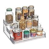 InterDesign Linus Schrank Organizer, großes Küchenregal mit 3 Ebenen aus Kunststoff, durchsichtig