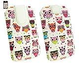 Emartbuy® Siswoo R8 Monster 5.5 Zoll Smartphone Mehrfarbig Eules Print Premium PU Leder Tasche Hülle Schutzhülle Case Cover (Größe 4XL) Mit Ausziehhilfe