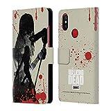 Head Case Designs Offizielle AMC The Walking Dead Michonne Silhouetten Brieftasche Handyhülle aus Leder für Xiaomi Mi A2 / Mi 6X