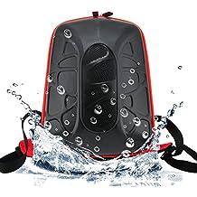 Waterproof Doppler Backpack Portable All in One Kit with Powerbank, Micro USB Charging and Audio Speakers - Black and Orange by Flintstop