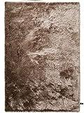 benuta Shaggy Hochflor Teppich Whisper Hellbraun 80x150 cm | Langflor Teppich für Schlafzimmer und Wohnzimmer