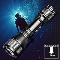 ORCATORCH D550 Taucher Taschenlampe wiederaufladbare Taucherlampe mit Magnetschalter