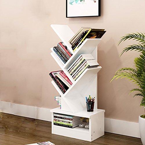 Bücherregal Floorstanding Creative Bücherregal Baum Multifunktions Kind ( Farbe : Weiß , größe : 5-tier ) (5-tier-bücherregal)