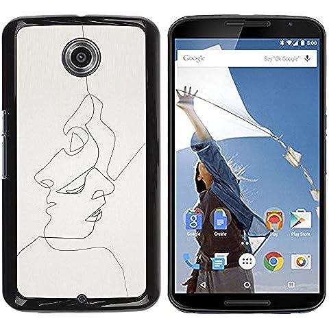 YOYOYO Smartphone Protección Defender Duro Negro Funda Imagen Diseño Carcasa Tapa Case Skin Cover Para Motorola NEXUS 6 X Moto X Pro - se podía ver una mascarilla o