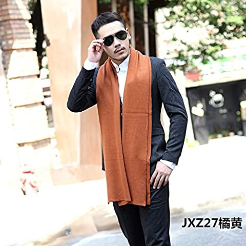 In autunno e in inverno gli uomini alla moda in stile inglese con colori solidi sciarpe semplici uomini di spessore Sciarpa lavorata a maglia in cotone Lana W-304