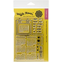 """Waffle Flower Crafts Clear Stamps 4""""X6""""-Calendar"""