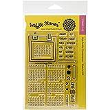 Waffel Blumen Crafts Gummi Clear Stamps 4-Zoll x 6, Kalender