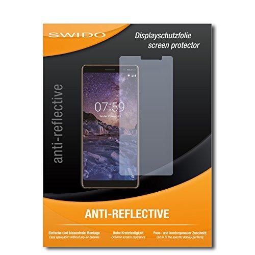 SWIDO Bildschirmschutzfolie für Nokia 7 Plus [3 Stück] Anti-Reflex MATT Entspiegelnd, Extrem Kratzfest, Schutz vor Kratzer/Bildschirmschutz, Schutzfolie, Panzerfolie