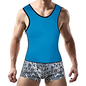 DODOING Herren Sauna Tank Top Sport Waist Cincher Training Korsage Korsett Vest Sweat Neopren Weste für Weight Loss