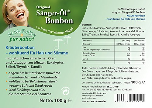 Sänger-Öl Bonbon 100 g