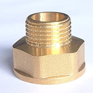 """BRASS BUSH BSP REDUCING REDUCER CONNECTOR 1"""" Female - 3/4"""" Male"""