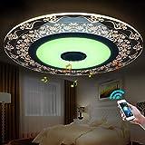 26 W LED Deckenleuchte integriertem Bluetooth Musik Lautsprecher und RGB Farbwechsel Deckenlampe Modern Circular Beleuchtung für Schlafzimmer Restaurant Wohnzimmer Kinderzimmer
