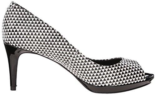 Nove in pelle occidentale Gelabelle pompa Dress Black/White Textured