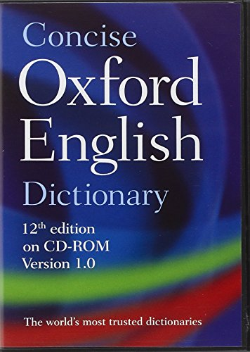 Concise Oxford English Dictionary: CD-ROM edition, Windows/Mac Individual User Version 1.0