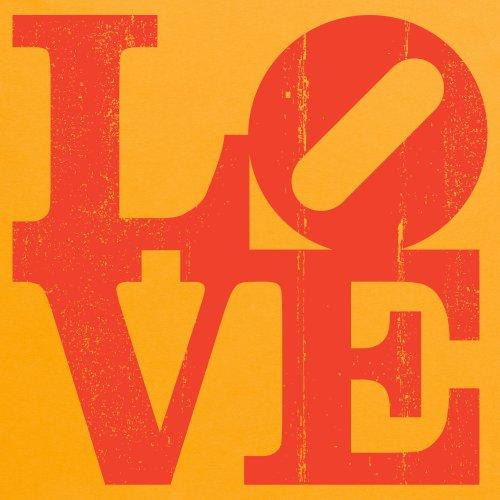 LOVE T-Shirt, Herren Gelb