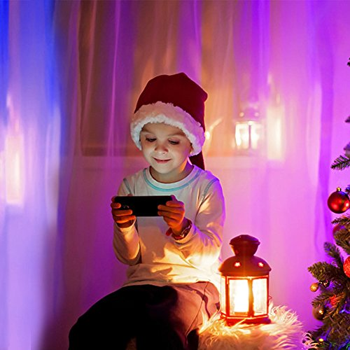Smart LED Wifi lampe,MEAMOR 7W Dimmbar Glühbirne RGB+Warmweiß E27 Birne Mit Alexa und Google Home,Steuerbar via App,60W äquivalent[Energieklasse A+] - 6