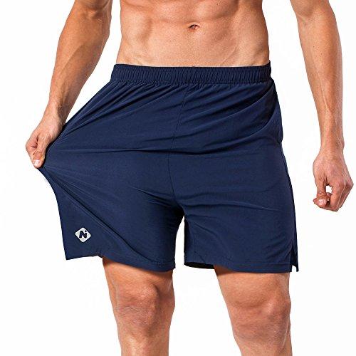 NAVISKIN Pantanloni Corti per Uomo Pantaloncini Atletica con Tasche Bermuda/Calzoncini Leggero di Ottima Vestibilità Ad Asciugatura Rapida Ottimo