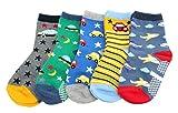 KID'S BASIC Pack de 5 calcetines de algodón antideslizantes para niños (estrellas de aviones) Car Planes Edad 1-3