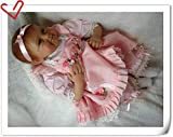 NPK 18 inch Reborn Baby Dolls Girls That Look Real Soft Silicone Vinyl Cheap Newborn Toddlers With Dummy Eyes Open Handmade Magnetic toy