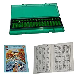 ABIRIA 17 ROD GREEN ABACUS KIT WITH BOX AND TWO WORK BOOKS