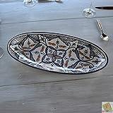 Plat ovale Marocain noir - L 40 cm