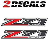 TiresFX Chevy Silverado Z71 Offroad Truck Stickers Decals - 2014-2018 Bedside (Set of 2)