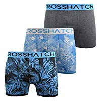 Crosshatch Mens Boxers Shorts Multipacked 3PK Underwear Gift Set 3 Pack Tresco(L,Blue)