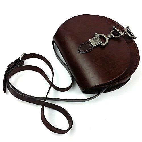 DJB/Retro/pflanzlich gegerbtes Leder Damen Tasche/Fashion/Frau Schulter der die Little Pakete/Satteltasche schokoladenbraun