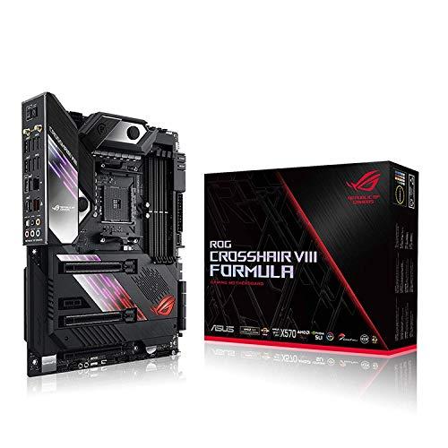 ASUS ROG Crosshair Formula VIII - Placa Base de Gaming ATX AMD X570 con PCIe 4.0, Wi-Fi 6 (802.11ax) Integrated, LAN a 5 Gbps, USB 3.2, SATA, M.2, ASUS Node and lighting Aura Sync RGB