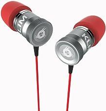 Auricolari KLIM Fusion per audio di alta qualità - Lunga durata + Garanzia 5 anni - Innovativi: con cuscinetti in schiuma Memory Rosso