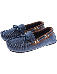 Trimfit Kids' Boys All Over Denim Mocassin Shoe Moccasin