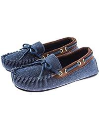 Trimfit Kids' Boys All Over Denim Mocassin Shoe Moccasin