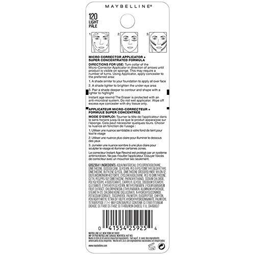 MAYBELLINE - Instant Age Rewind Eraser Dark Circles Treatment Concealer 120 Light - 0.2 fl. oz. (6 ml)