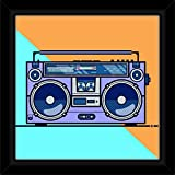 #6: IT2M 13 inch - Frame Printed Vintage Tape Recorder Music Poster (3135F)