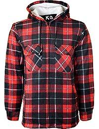 f62fcf22e92a Herren-Kapuzen-Hemd, gefüttert, Polar-Fleece-Kunstfell, Arbeitshemden-