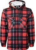 Herren-Kapuzen-Hemd, gefüttert, Polar-Fleece-Kunstfell, Arbeitshemden-Stil, für den Winter, Warm Gr. X-Large, Design-3