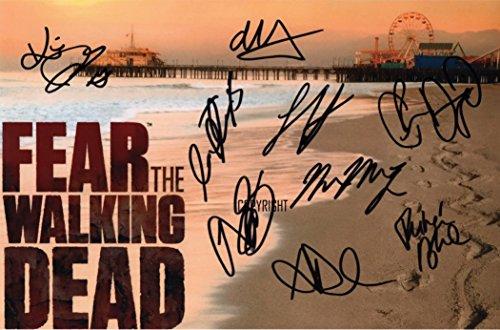 Édition limitée Fear The Walking Dead Cast Photo dédicacée par autographe