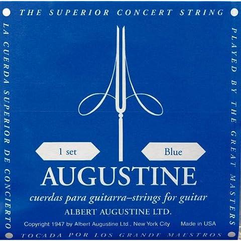 Gewa Augustine - Juego de cuerdas para guitarra clásica (alta tensión), color azul
