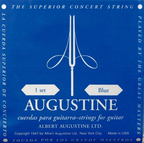 Augustine Satz Klassikgitarrensaiten, blau, High Tension