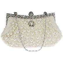 KAXIDY Borsa Pochette Borsa Sacchetto Cerimonia Perline Perle Donne Eleganti