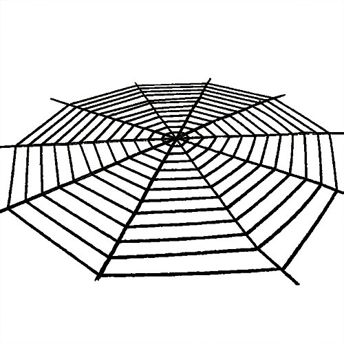 HuntGold Schwarz Faser Riesen Spinnennetz Fest Halloween Party Haus Dekoration 5 Meter