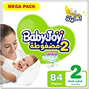 BabyJoy Compressed Diamond Pad, Size 2, Small, 3.5-7 kg, Mega Pack, 84 Diapers